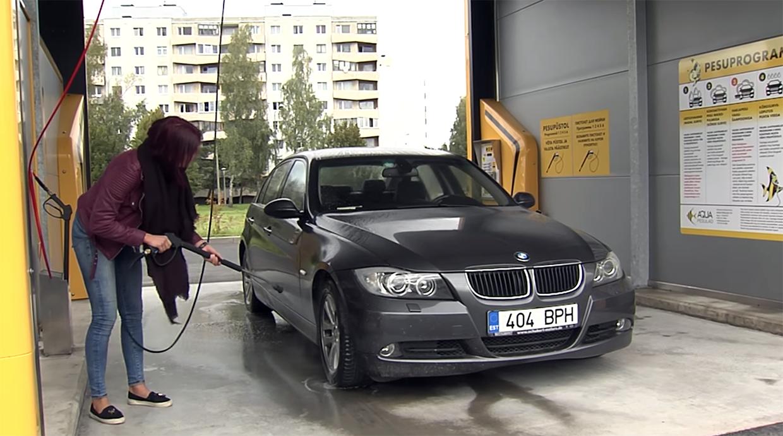 Auto pesemine aqua autopesulas